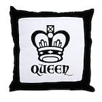 Queen Symbol 2 Throw Pillow