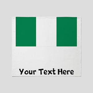 Nigerian Flag Throw Blanket