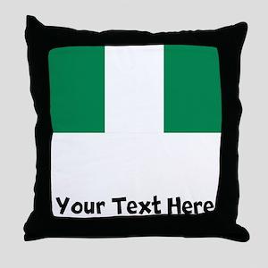 Nigerian Flag Throw Pillow