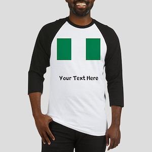 Nigerian Flag Baseball Jersey