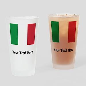 Italian Flag Drinking Glass
