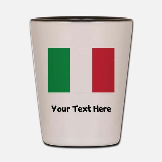 Italian Flag Shot Glass