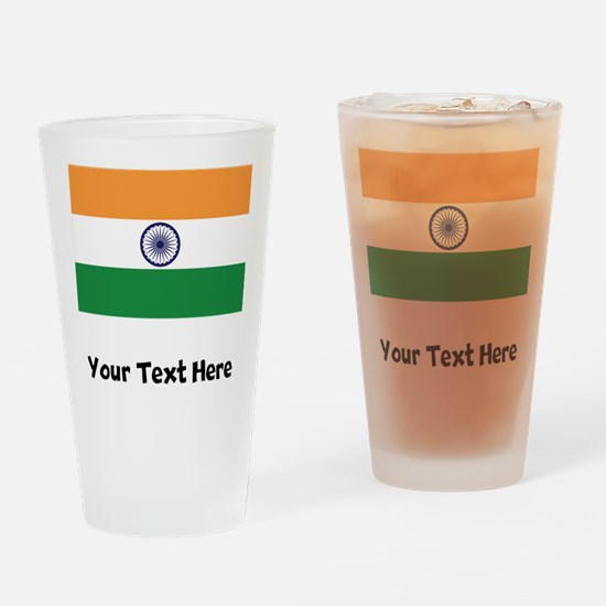 Indian Flag Drinking Glass