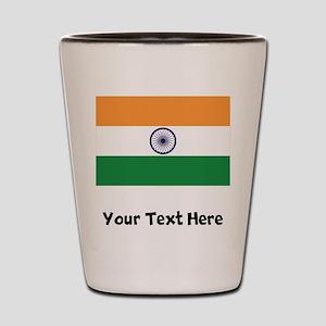 Indian Flag Shot Glass