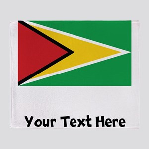 Guyanese Flag Throw Blanket