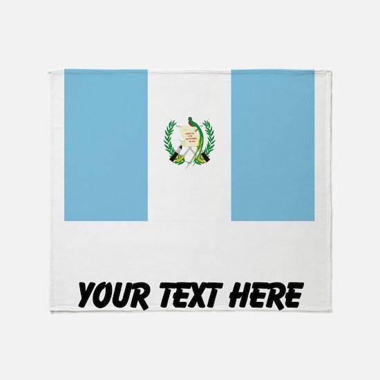 Guatemalan Flag Throw Blanket