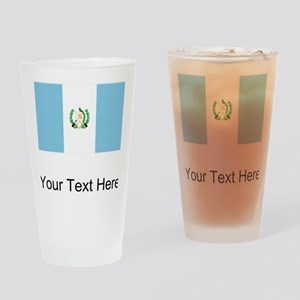 Guatemalan Flag Drinking Glass