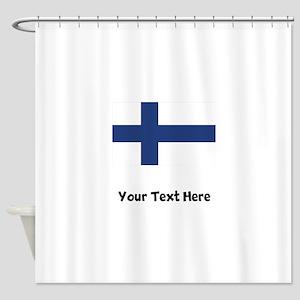 Finnish Flag Shower Curtain