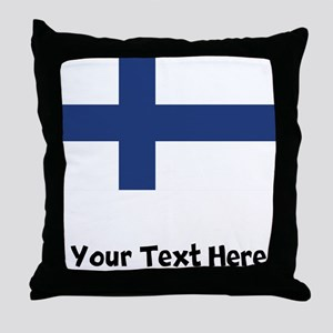 Finnish Flag Throw Pillow
