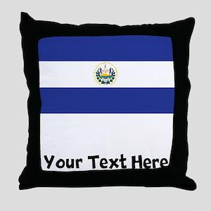 El Salvadorian Flag Throw Pillow