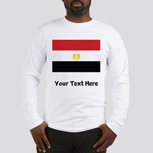 Egyptian Flag Long Sleeve T-Shirt