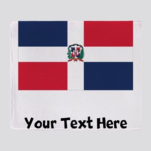 Dominican Flag Throw Blanket