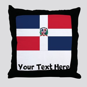 Dominican Flag Throw Pillow