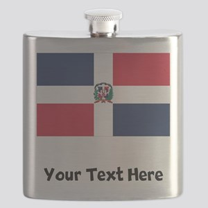 Dominican Flag Flask