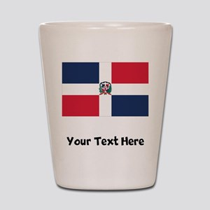 Dominican Flag Shot Glass