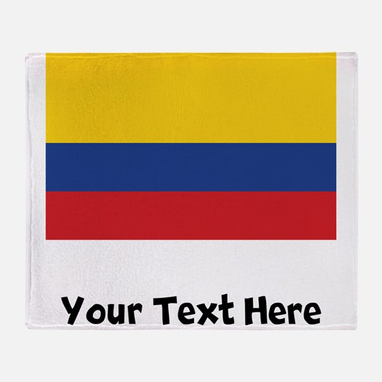 Colombian Flag Throw Blanket