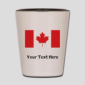 Canadian Flag Shot Glass