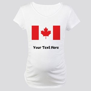 Canadian Flag Maternity T-Shirt