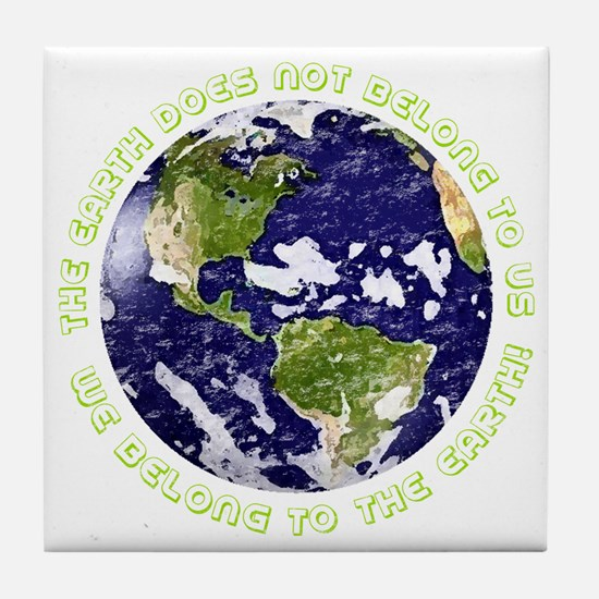 Cool Love your mother Tile Coaster