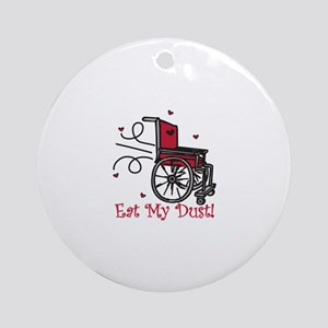 Fast Wheelchair Round Ornament
