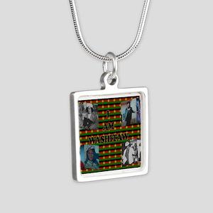 I Am Washitaw Silver Square Necklace