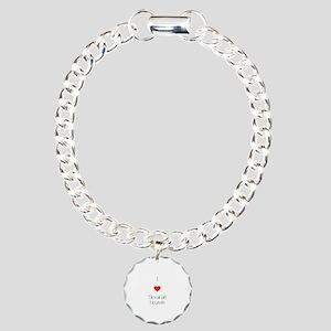 I love Slovakian Hounds Charm Bracelet, One Charm