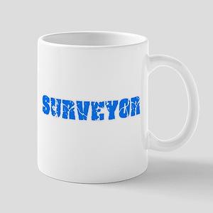 Surveyor Blue Bold Design Mugs