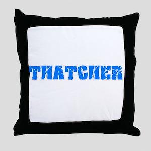 Thatcher Blue Bold Design Throw Pillow