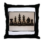 Chess Family Line Up Throw Pillow