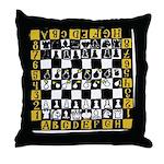 Chess Mine Field Throw Pillow