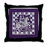 Knight Takes King Throw Pillow