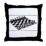 Illustrated Chess Throw Pillow