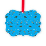 Alaska Fish Scattter 4x4 render Ornament