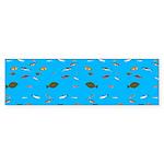 Alaska Fish Scattter 4x4 render Bumper Sticker