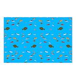 Alaska Fish Scattter 4x4 render Postcards (Package
