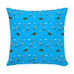 Alaska Fish Scattter 4x4 render Everyday Pillow