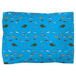 Alaska Fish Scattter 4x4 render Pillow Sham