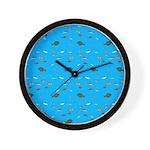 Alaska Fish Scattter 4x4 render Wall Clock