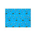 Alaska Fish Scattter 4x4 render 5'x7'Area Rug