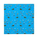 Alaska Fish Scattter 4x4 render Queen Duvet