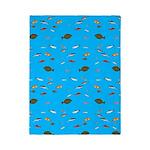 Alaska Fish Scattter 4x4 render Twin Duvet