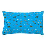 Alaska Fish Scattter 4x4 render Pillow Case
