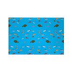 Alaska Fish Scattter 4x4 render Magnets