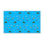 Alaska Fish Scattter 4x4 render Car Magnet 20 x 12