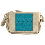 Alaska Fish Scattter 4x4 render Messenger Bag