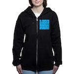 Alaska Fish Scattter 4x4 render Women's Zip Hoodie