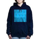 Alaska Fish Scattter 4x4 render Women's Hooded Swe