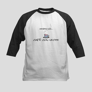Raised on Café con Leche Kids Baseball Jersey