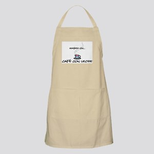 Raised on Café con Leche BBQ Apron