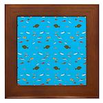Alaska Fish Scattter 4x4 render Framed Tile